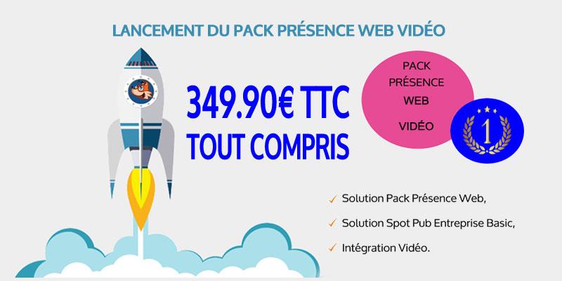 Lancement du Pack Présence Web Vidéo